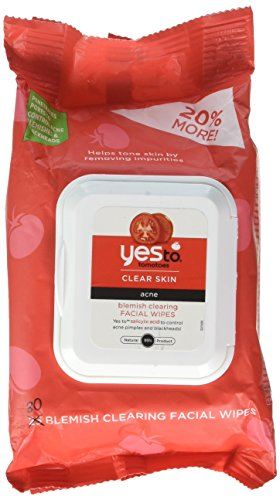 Yes To, Tomatoes, Clear Skin, Acne, Blemish Clearing Facial Wipes, 4 Packs of 25 wipes each