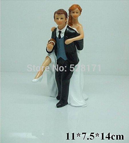 Football Themed Wedding Cake Topper Sporty Bride Groom Cake Topper