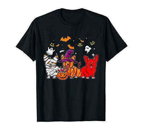Corgi Happy Halloween (Corgi dog happy halloween t-shirt Cute Mummy Witch)