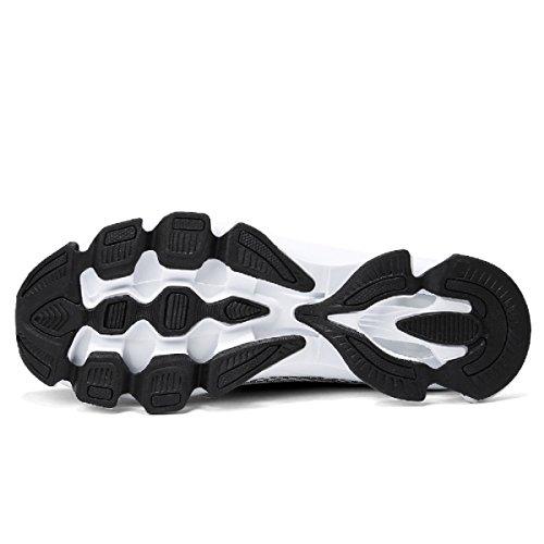 Gym Fitness EU Course Outdoor de Adulte Lanchengjieneng Baskets Chaussures Noir Mode 3 de 45 Multisports Sneakers Gris Running 6 6vzw61fxP