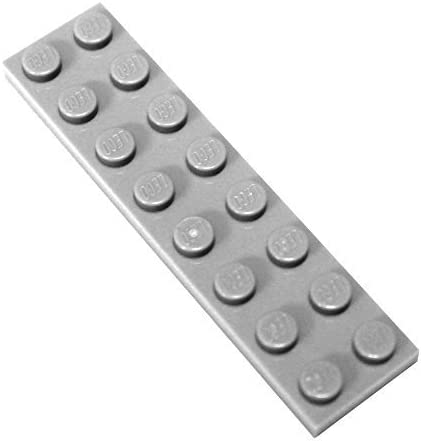LEGO Parts and Pieces: Light Gray (Medium Stone Grey) 2x8 Plate x20