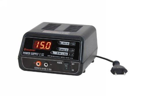 Graupner 6458 - Schaltnetzteil, Regelbar, circa 5-15V/0-15A