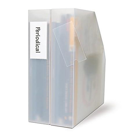 3L Label Holder - Paquete de 12 fundas adhesivas para etiquetas de carpetas archivadoras, transparente: Amazon.es: Oficina y papelería