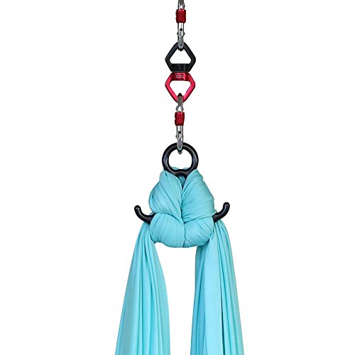 Long Aerial Silks Equipment for Acrobatic Flying Dance, Extra-Long 15 Yards, Includes all Hardware, Fabric and Guide