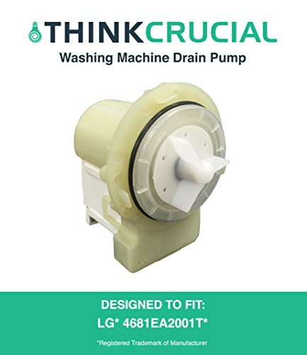 Replacement for LG Washing Machine Drain Pump & Motor Assembly, Fits WM2650HRA & WM8000HVA, Compatible With Part # 4681EA2001T, by Think Crucial - Washing Machine Motor Assembly