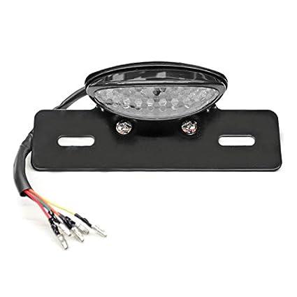 Krator TL-GJ-022-1M Black Turn Signals (Custom Motorcycle Integrated on