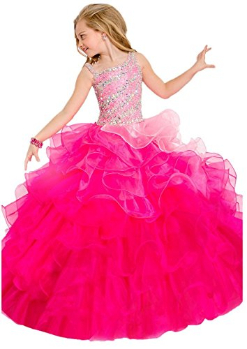 Lilibridal Little Girls Birthday Party Ball Gowns Beaded Kids Pageant Dress LLB054