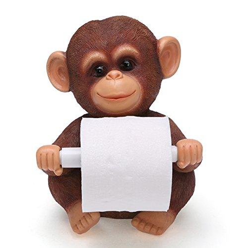 YOURNELO Creative Animal Desk Roll Paper Holder for Toilet (Monkey)