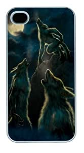 3 Werewolf Moon PC Case Cover for iPhone 4 and iPhone 4s White