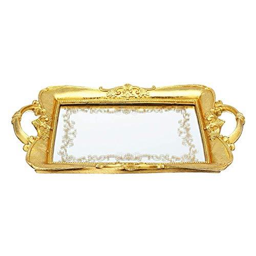 32X21Cm Mirror Cosmetics Makeup Organizer Jewelry Storage Accessories Display Tray Decoration Case -