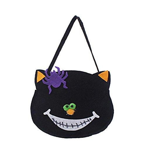 [Halloween Pumpkin Bag Kids Candy Bag for Halloween Party Costumes Basket Bucket (C)] (Bin Bag Halloween Costumes)
