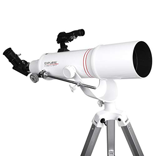 Explore FIRSTLIGHT Telescope- 90mm White Tube Refractor with 500mm Focal  Length f/5 5, with Alt/AZ U Yoke Mount - FL-AR90500AZ