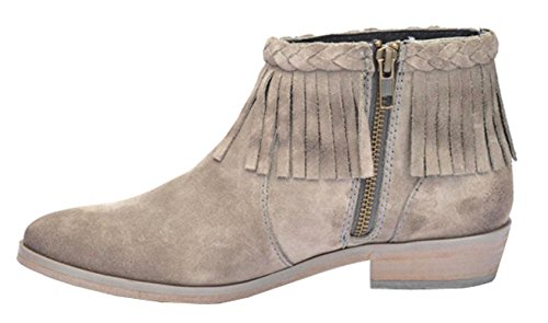 G Avec En P5129 Bottines Franges Daim Corral Circle By Gris FxwqqfP7