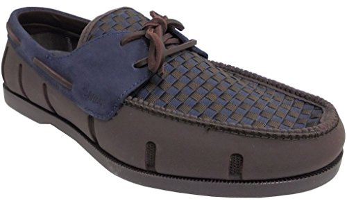 Swims Mens Boat Loafer Woven Brown/Navy Size 9 by SWIMS