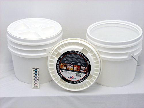 Bucket Kit, Two 3.5 Gallon Buckets with White Gamma Seals
