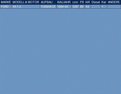 ETS-EXHAUST 50615 Tubo Intermedio pour KA 1.3 HATCHBACK 60hp 1996- el kit de montaje completo