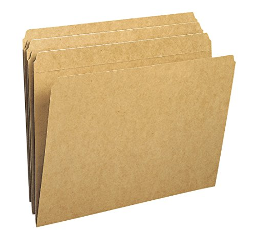 Smead File Folder, Reinforced Straight-Cut Tab, Letter Size, Kraft, 100 Per Box (10710) (Alexandria Double Handle)