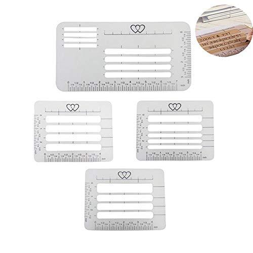 Womdee Template Ruler Guide, Envelop Addressing Guide Stencils Templates Lettering Straight Writing Ruler Guide for Thank You Card,Mother's Day,Valentine's Day,Wedding Party Invitation - Card Valentines Templates