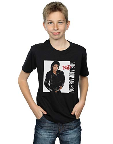 Michael Jackson Boys Bad Pose T-Shirt Black 5-6 Years