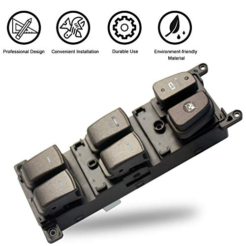 Travay Left Front Driver Side Master Power Window Switch Compatible with 2008-2010 Hyundai Sonata Replacement Window Switch 93570-3K600 ()