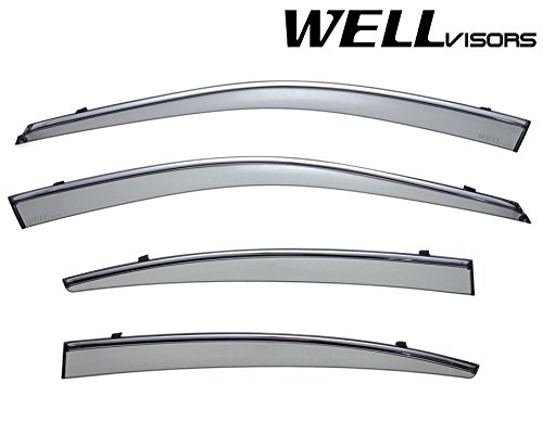 WELLVISORS | FOR 10-14 SUBARU LEGACY SEDAN 4DR | Window Visors Heavy Duty Guards (Trim Subaru Chrome Legacy)