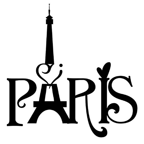 Paris City France Paris Eiffel Tower Paris Wall Decals for Girls Room Inspirational Wall Sticker Quotes Wall Decorations -