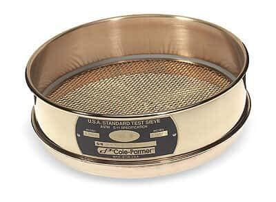 "Cole-Parmer Testing Sieve, 8"" OD Brass"