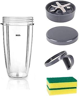 Wadoy - Cuchilla con taza para batidora Nutribullet con tapa de ...