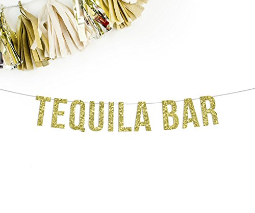 Fiesta Streamer (Tequila Bar Banner || birthday wedding party reception sign bar gold bachelorette)