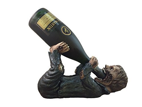 Undead Zombie Drinking Wine Bottle Holder By DWK | Halloween Home And Decor Sculptures and Display Figurines by DWK