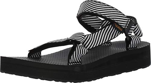 Teva Womens Midform Universal Sandals, Candy Stripe Black, Size 8 ()