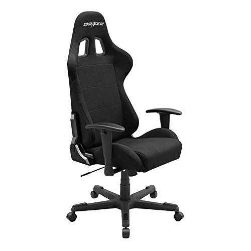 DX Racer Formula Series DOH/FD01/N Office Chair Gaming Chair Ergonomic Computer Chair eSports Desk Chair Executive Chair Furniture with Free Cushions(Black)
