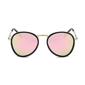 Aoligei Tendencia de la personalidad del retro moda hombres y mujeres gafas de sol polarizadas redondas gafas de sol gafas ojo de sol: Amazon.es: Jardín