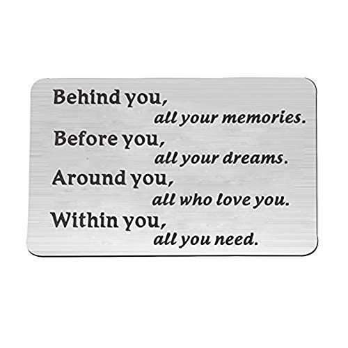FEELMEM Graduation Gifts Behind You All Memories Before You All Your Dream Graduation Keychain Inspirational Graduates Gifts 2018, 2019 (Wallet Card) (Gift Ideas For Best Friends College Graduation)