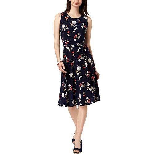 Charter Club Womens Sleeveless Floral Midi Dress Navy XXL from Charter Club