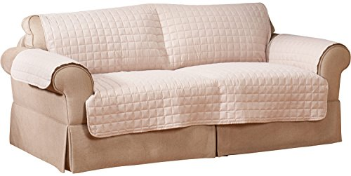 Innovative Textile Microfiber Sofa Furniture Protector, Natural