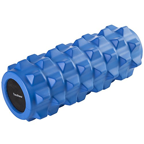 Readaeer Exercise Therapy Yoga Foam Roller with Trigger Point for Gym Exercise Massage Pilates (Blue)