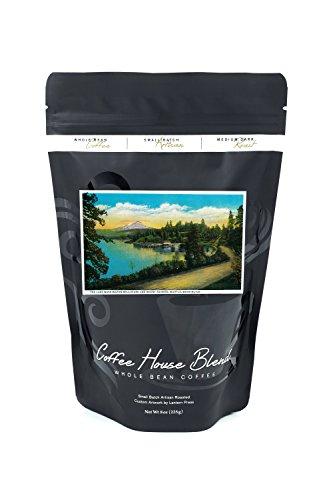 Lake Washington Boulevard and Mt. Rainier (8oz Whole Bean Small Batch Artisan Coffee - Bold & Strong Medium Dark Roast w/ (Boulevard Postcard)