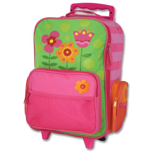 Pink Butterfly Hard Graphic - Stephen Joseph Girls Classic Rolling Luggage, Flower, One Size
