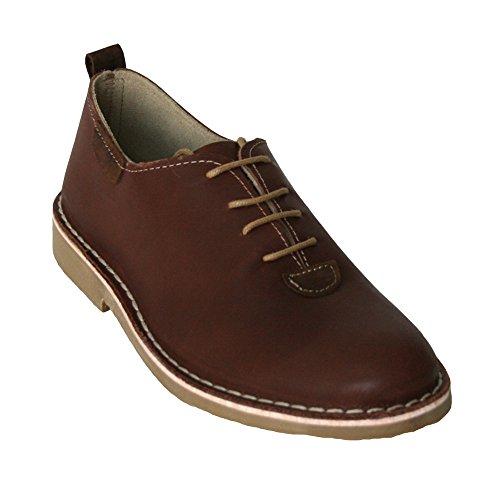 K533N - Zapato piel cuero marrón