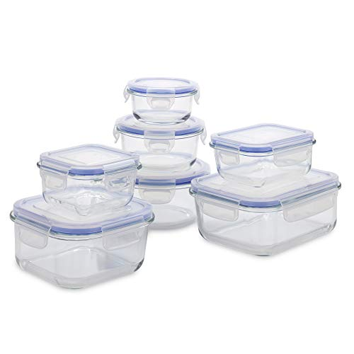 1790 Glass Food Storage Containers with Lids