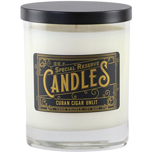 Special Reserve Soy Wax Candle, 10 Ounce, Cuban Cigar Unlit Scent