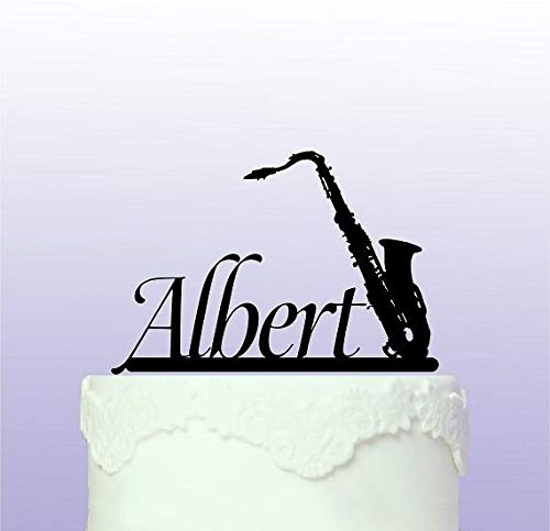 Personalised Saxophone Cake Topper by Tamengi