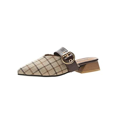 f22dfc2fb3f5d Amazon.com | Cdon Women's Mule Flats Shoes Pointed Toe Backless ...