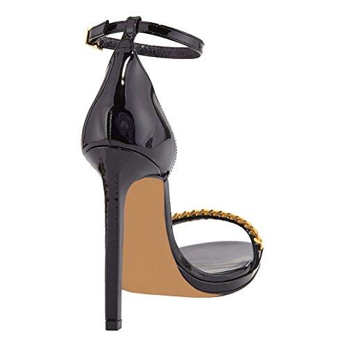 MERUMOTE - Sandalias de vestir para mujer Schwarz-Lack