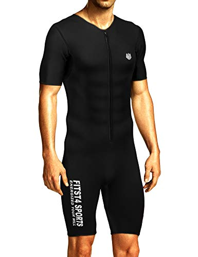 de0b9d87a3dbe FitsT4 Men s Sauna Suit MMA Neoprene Sweat Shirt Quick Weight Loss Slimming Body  Shaper for Fitness