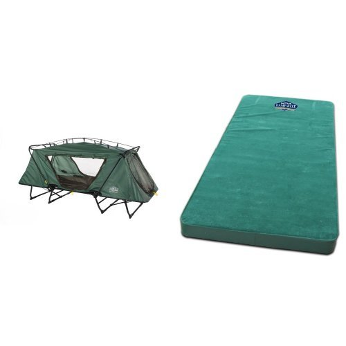 Kamp-Rite Oversize Tent Cot and Kamp-Rite Single Self Inflating Pad Bundle