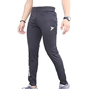 Fitinc Men's Gym & Yoga Wear Stretchable Trackpant with Two Zipper Pockets