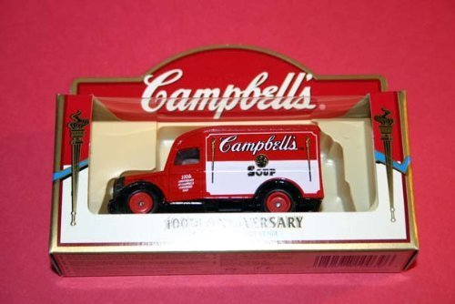 Campbell's Soup 100th Anniversary Die-Cast Car Model Souvenir - Green Tomato Soup Delivery Truck Lledo