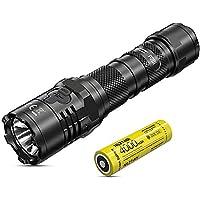 Nitecore P20i Tactical Flashlight - 1800 Lumens LED Torch USB C Rechargeable - Strobe READY IP68 Waterproof ([ 21700i Li…